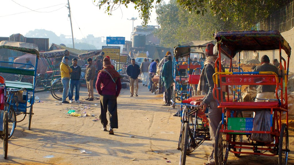 Chandni Chowk which includes street scenes as well as a large group of people
