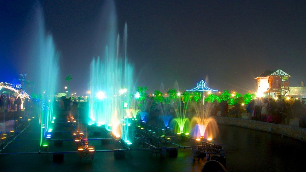 Kolkata which includes a garden, a fountain and a city