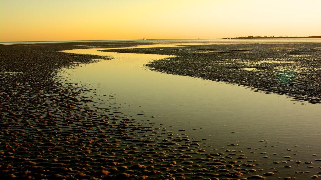 Broome que incluye una puesta de sol y vistas de paisajes