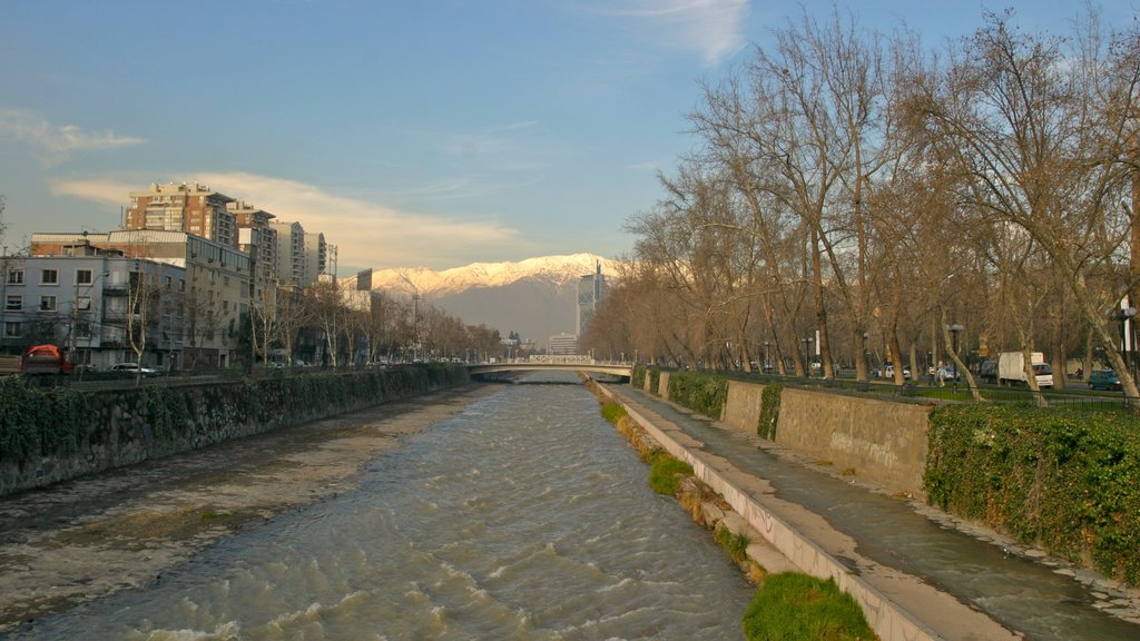 Santiago featuring a city and a river or creek