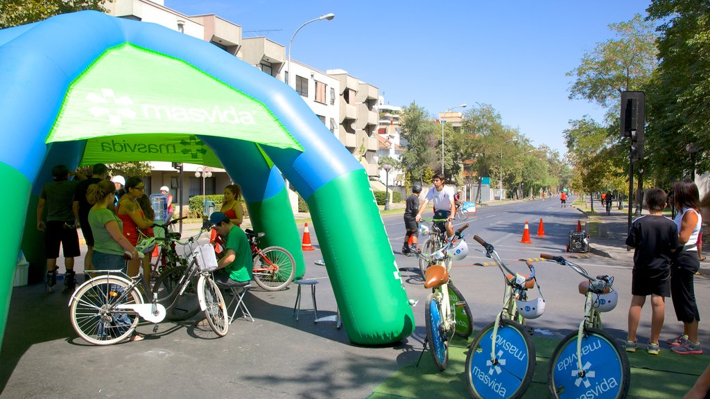 Providencia which includes a sporting event and cycling