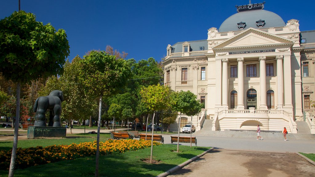 Museum of Contemporary Art showing a garden