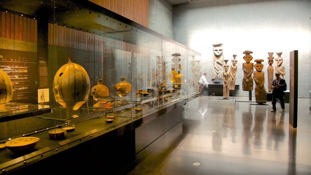 Museum of Chilean Precolombian Art which includes interior views and art
