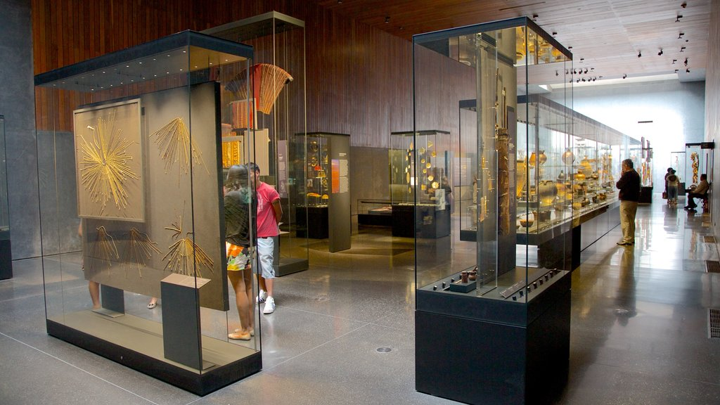 Museum of Chilean Precolombian Art featuring art and interior views