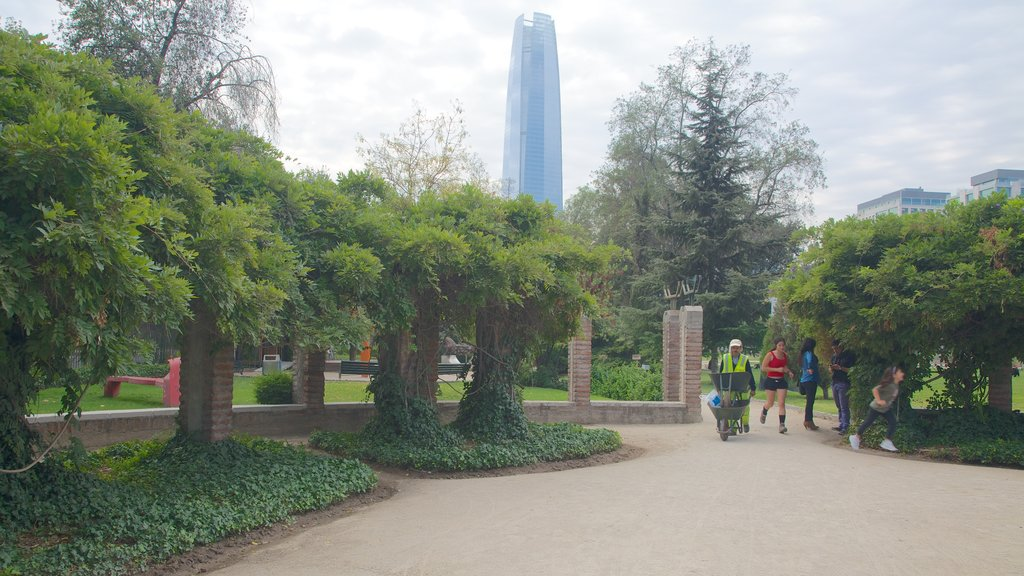 Sculpture Park which includes a garden, modern architecture and a skyscraper