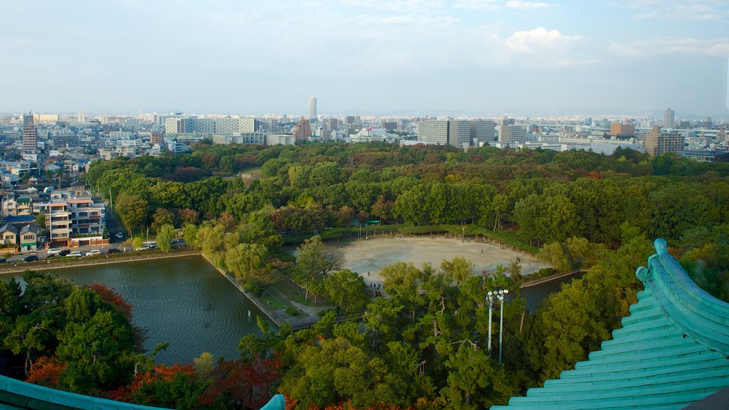 Nagoya Castle featuring a city and landscape views