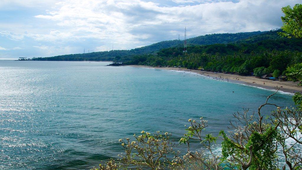 Senggigi showing a beach and landscape views