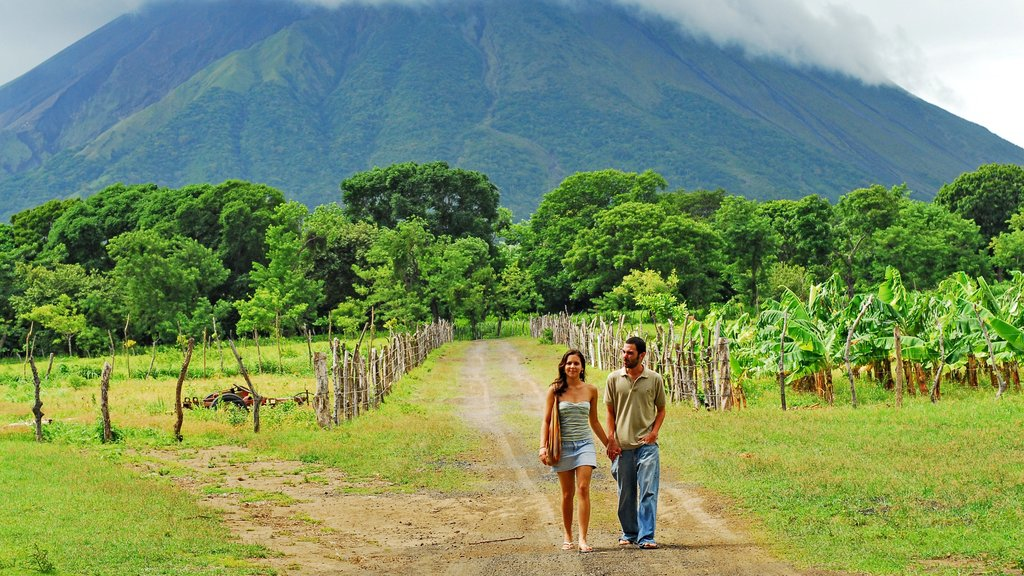 Ometepe Island showing mountains, landscape views and farmland