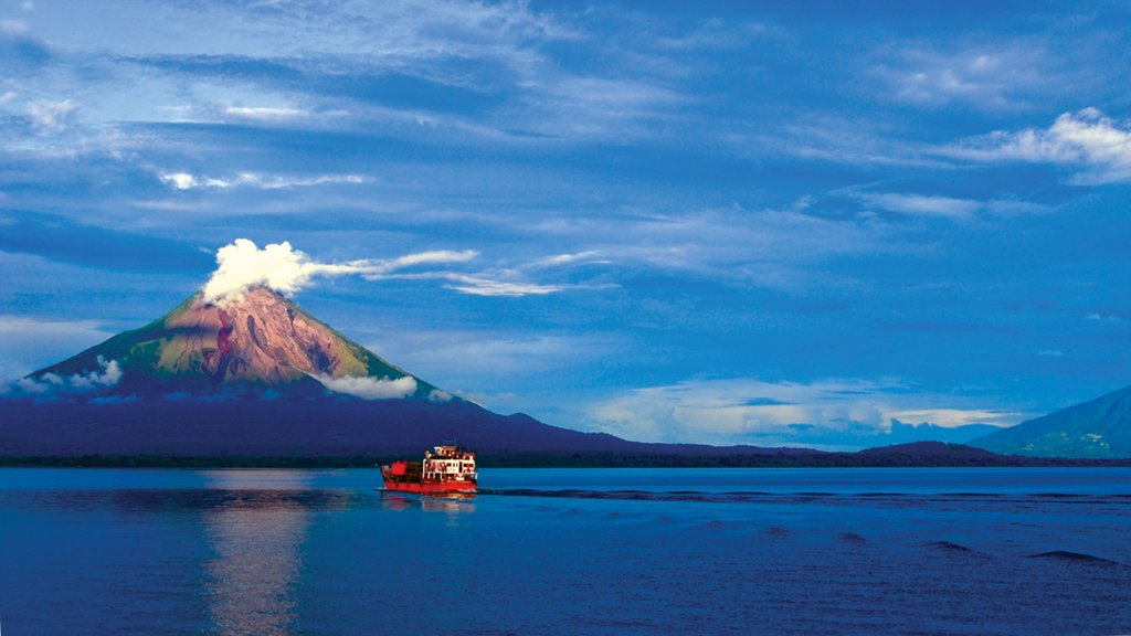 Ometepe Island which includes general coastal views and mountains