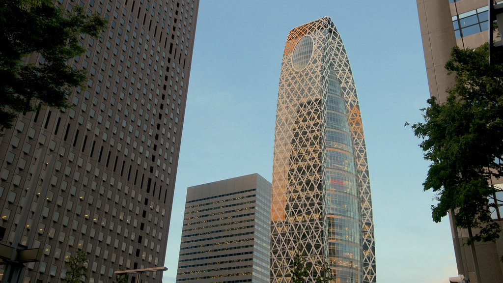 Shinjuku which includes a city, central business district and modern architecture