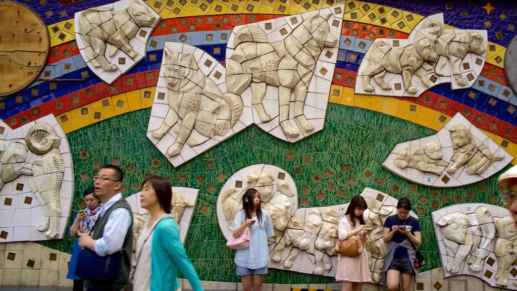 Shibuya showing art and outdoor art