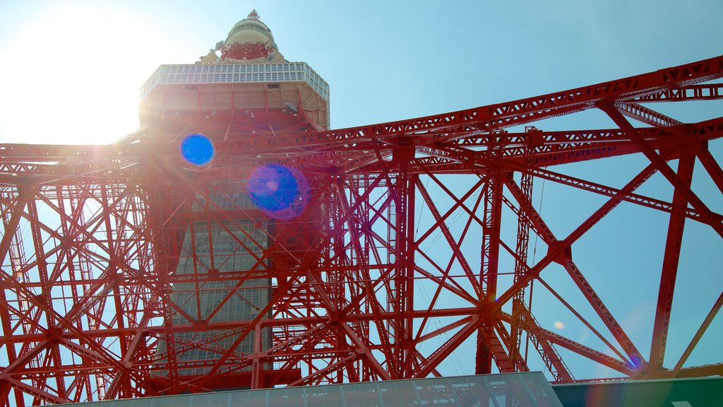 Tokyo Tower featuring a city