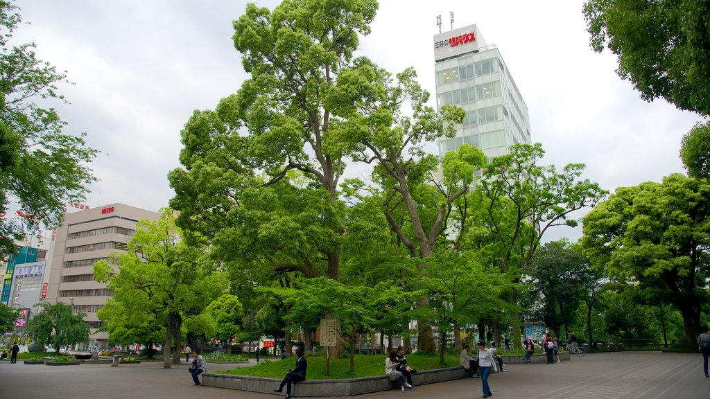 Ueno Park featuring a garden and a city