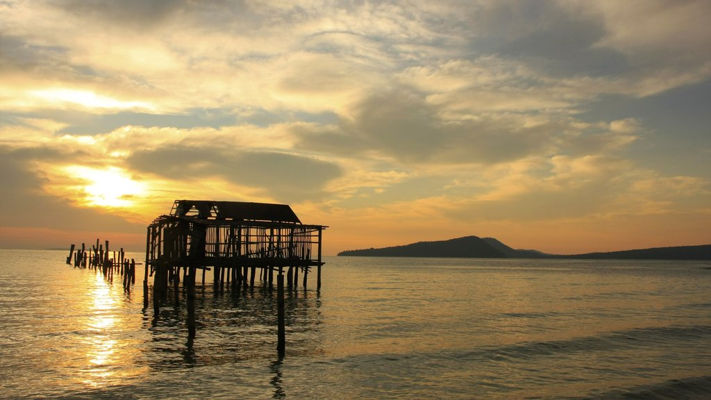 Koh Rong showing landscape views, general coastal views and a sunset