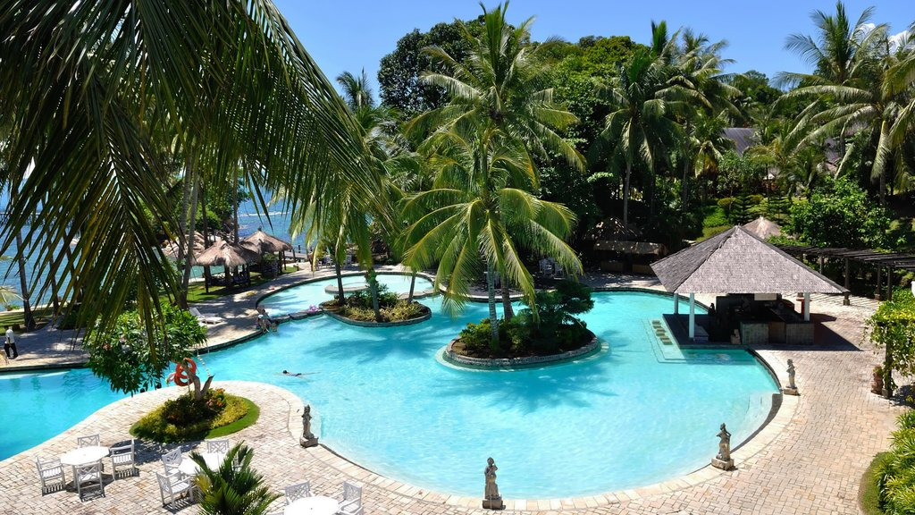 Batam Island featuring a pool, a luxury hotel or resort and landscape views