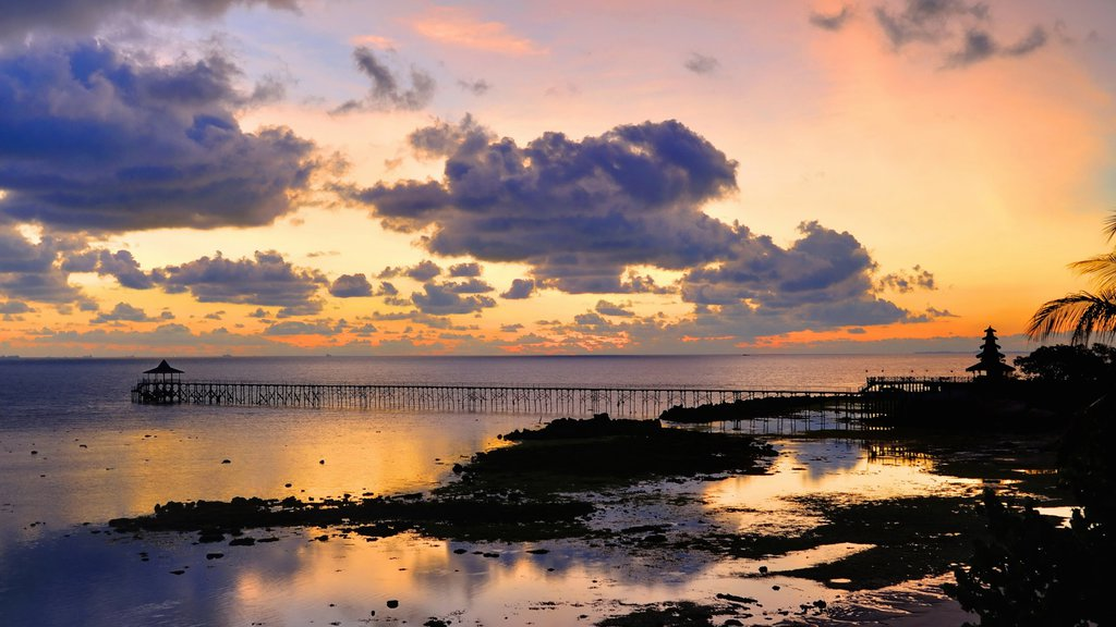 Batam Island which includes a sunset, general coastal views and island views