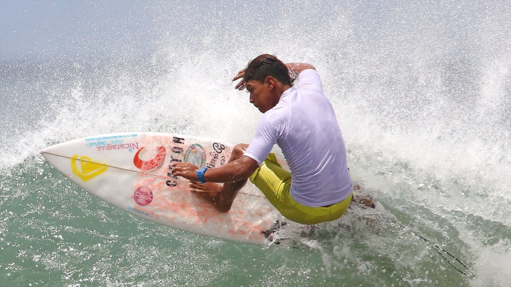 Managua featuring surfing and surf as well as an individual male