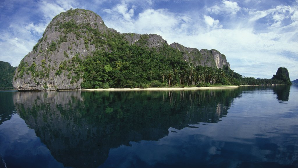 Palawan featuring general coastal views, mountains and island views
