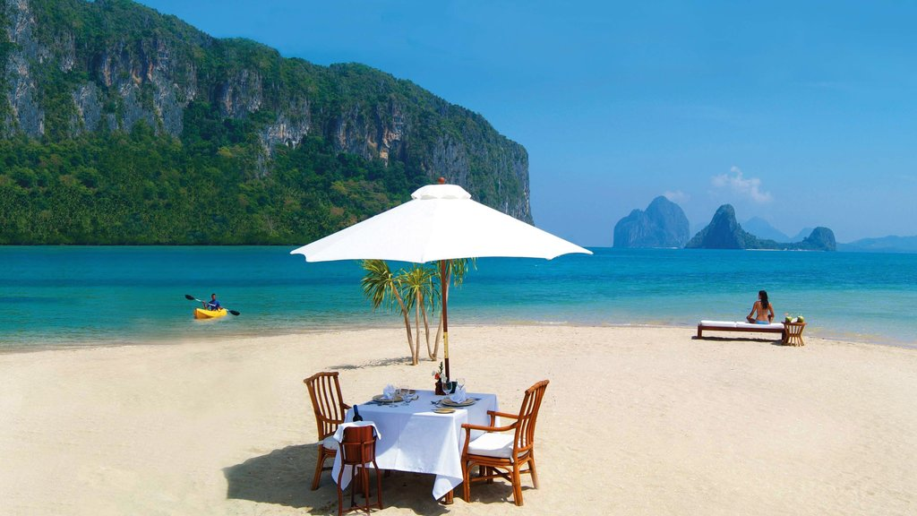 Palawan which includes kayaking or canoeing, landscape views and a luxury hotel or resort