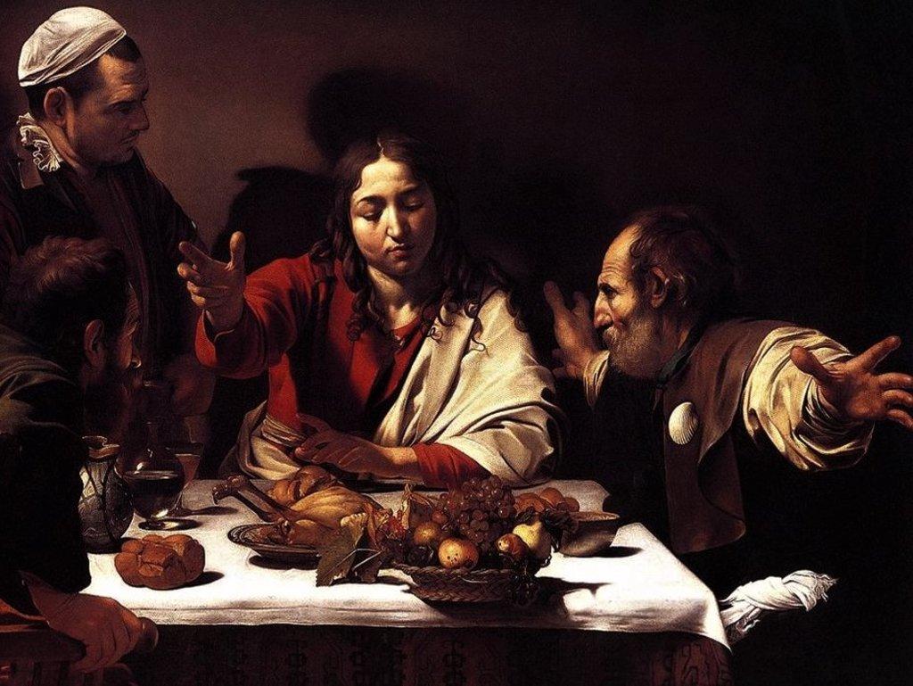 La Cena in Emmaus della National Gallery.