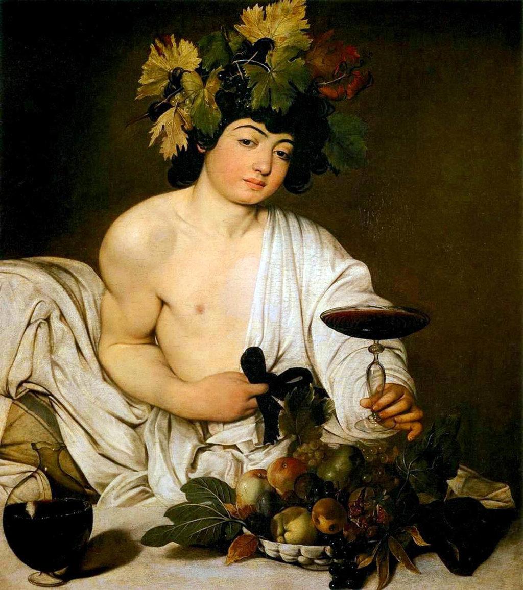 Bacco - Di Caravaggio - (Opera propria), Lafit86, Pubblico dominio, https://commons.wikimedia.org/w/index.php?curid=10251116