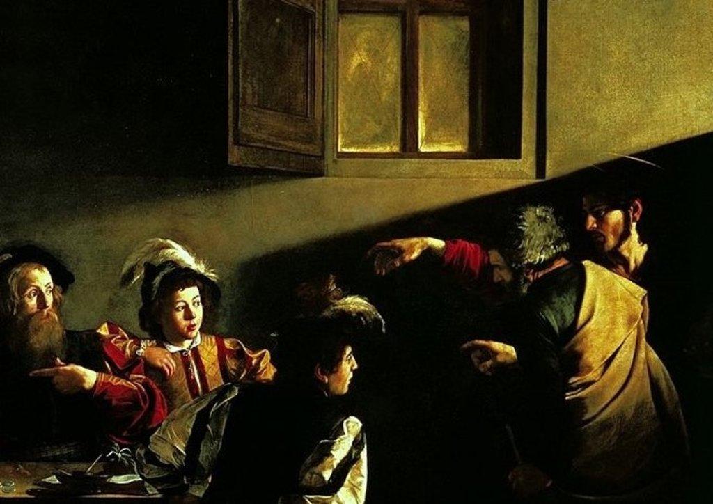 La Vocazione di San Matteo, particolare