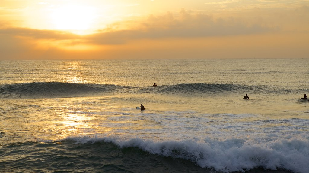 South Beach showing surfing, waves and landscape views