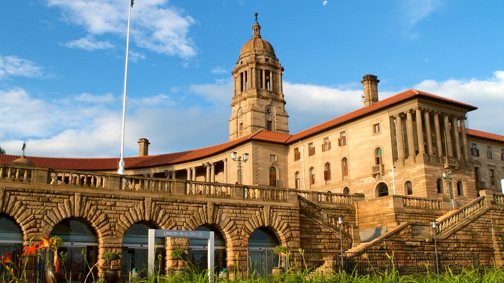 Union Buildings which includes heritage architecture, an administrative buidling and a city