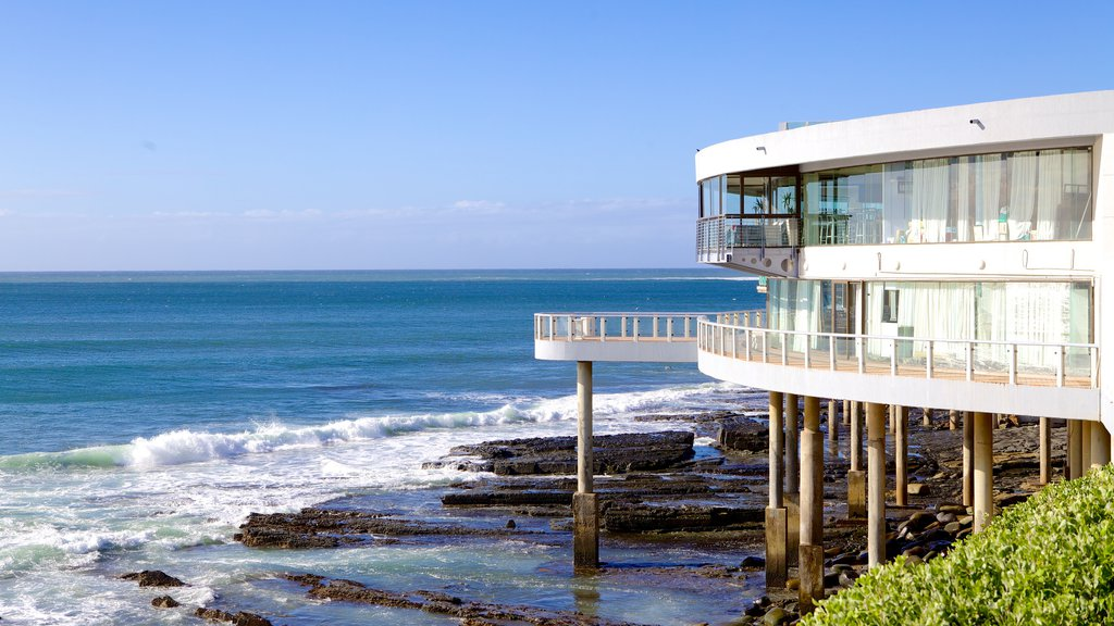 Eastern Beach showing modern architecture, general coastal views and a house