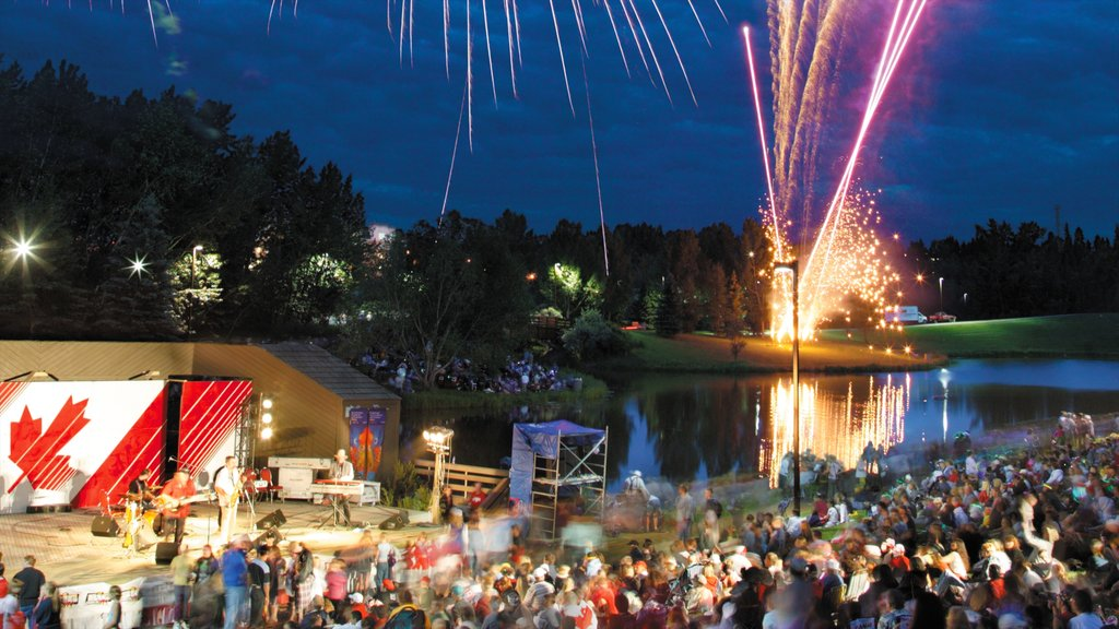 Red Deer showing skyline, street scenes and a festival
