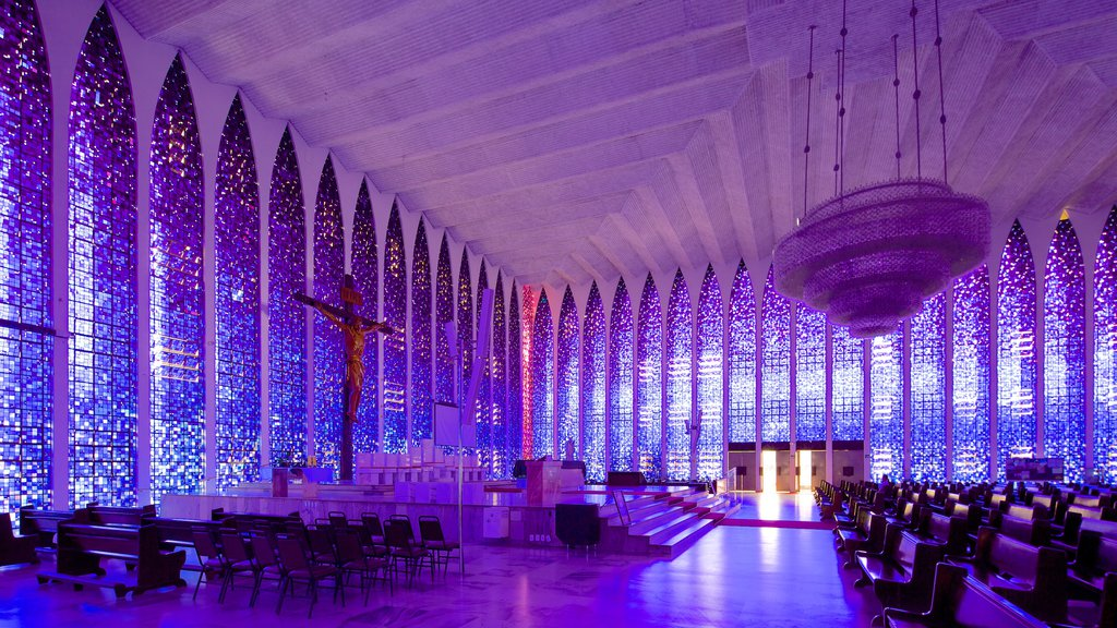 Dom Bosco Sanctuary which includes a church or cathedral, interior views and heritage architecture