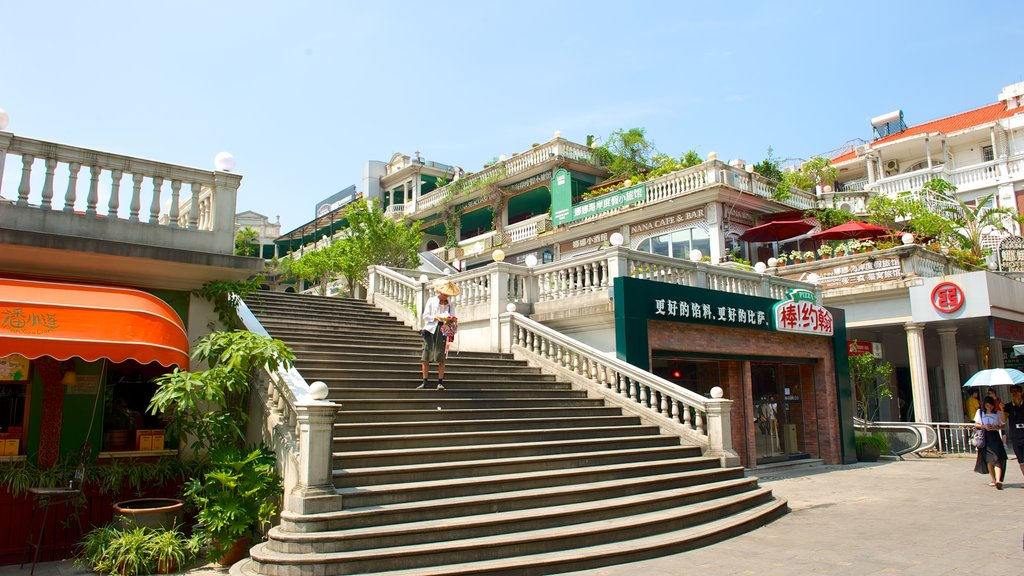 Gulangyu Island showing a city and street scenes