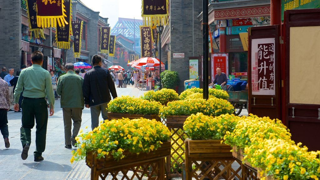 Ancient Culture Street showing flowers, markets and street scenes