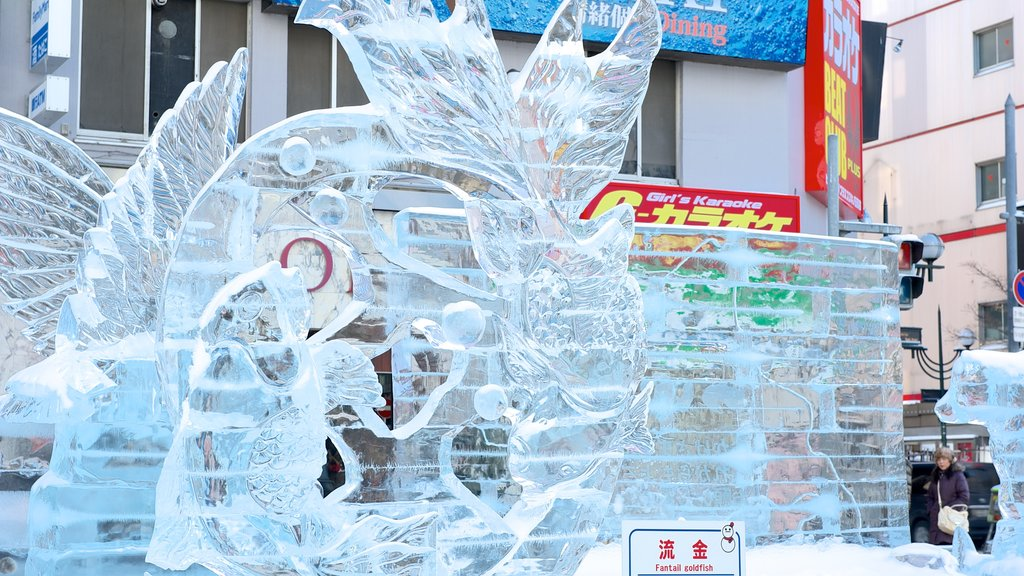 Sapporo showing outdoor art