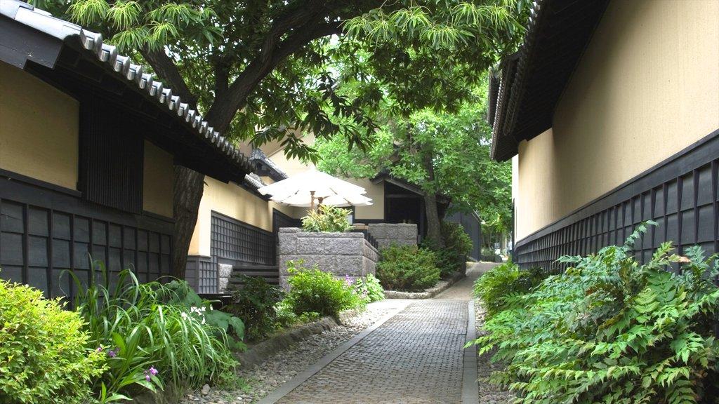 Nagano que incluye una pequeña ciudad o pueblo