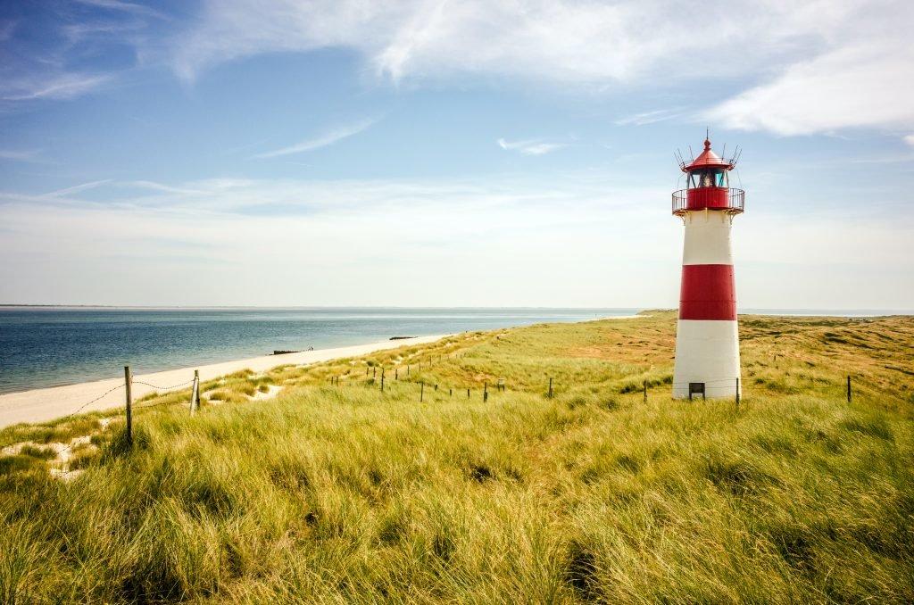 Lighthouse on the island Sylt / Germany