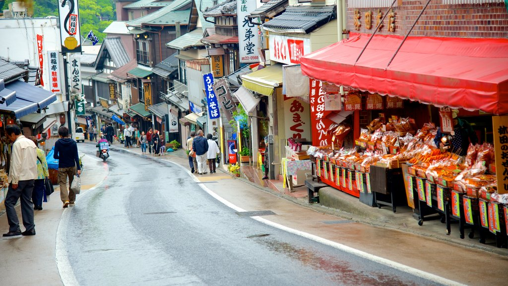 Narita which includes markets and street scenes