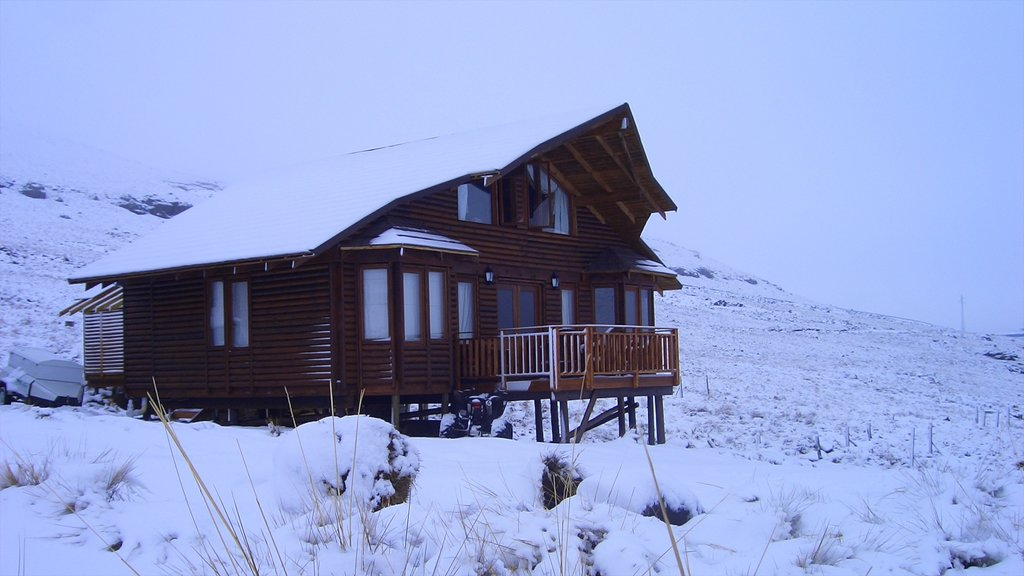 Lesotho showing a house and snow