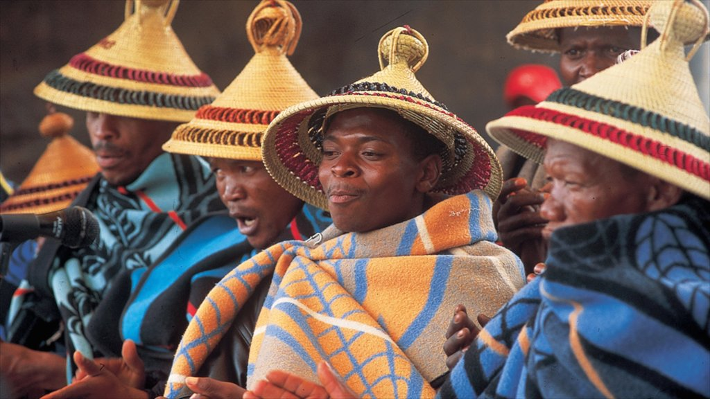 Lesotho featuring performance art as well as a small group of people