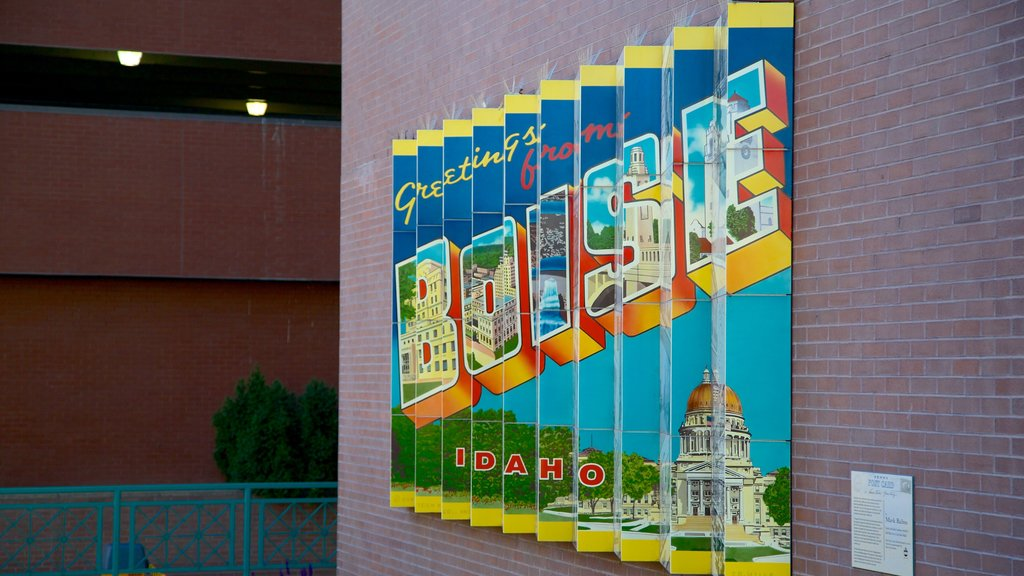 Boise showing art, outdoor art and signage