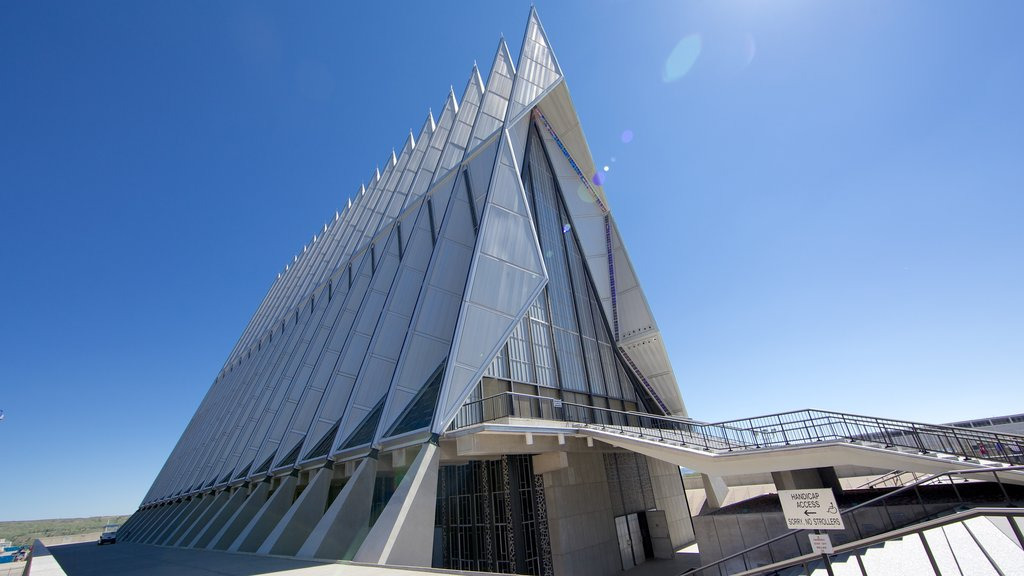US Air Force Academy featuring modern architecture