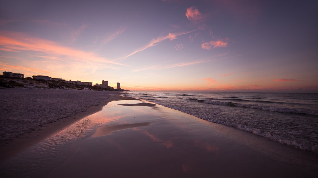 Fort Walton Beach which includes a sunset and a sandy beach