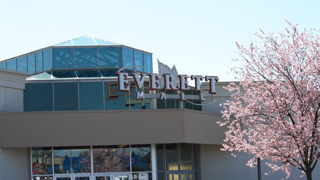 Everett which includes signage and modern architecture