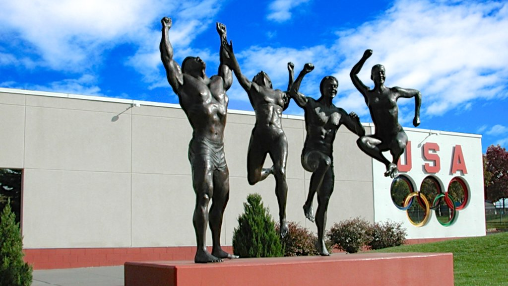 United States Olympic Complex which includes a statue or sculpture and outdoor art