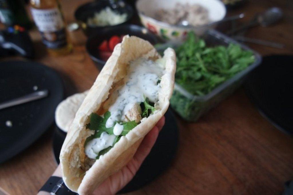 Turkish chicken döner kebab