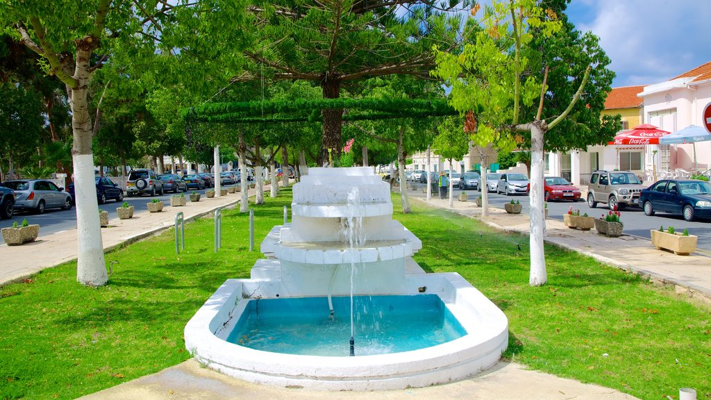 Paphos featuring a park and a fountain