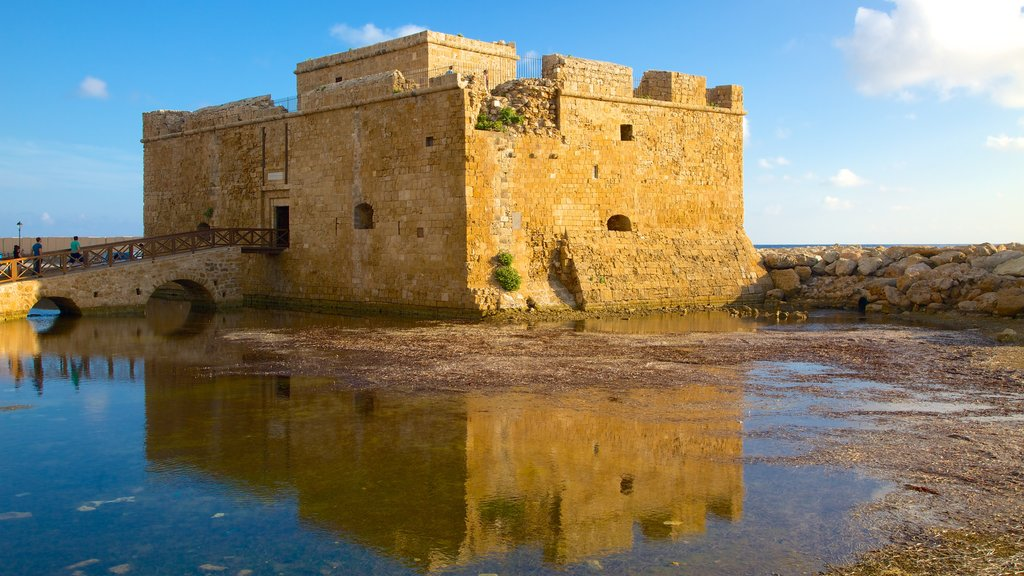Paphos Castle which includes building ruins and a castle