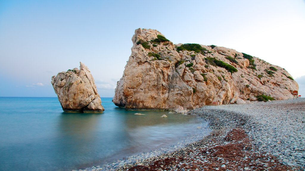 Aphrodite\'s Rock which includes a pebble beach