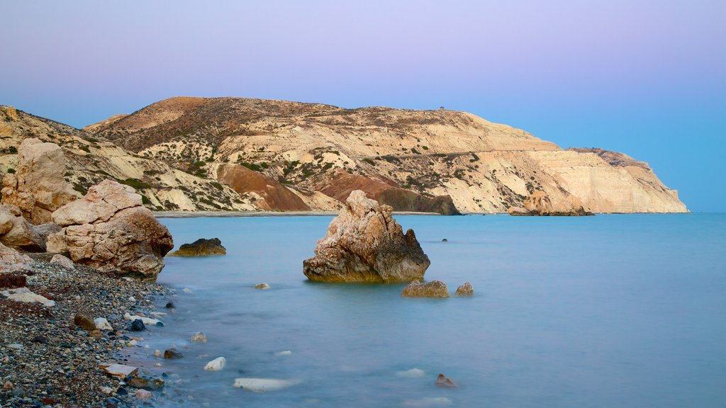 Aphrodite\'s Rock which includes rugged coastline