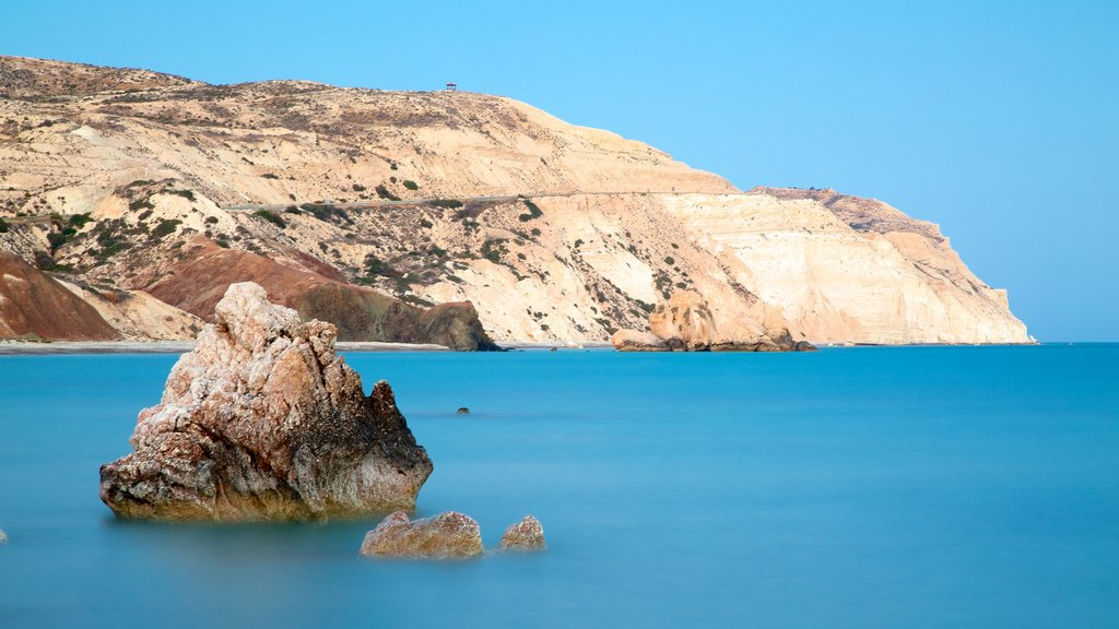 Aphrodite\'s Rock featuring rugged coastline